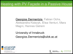 Heating with PV Façade in a Passive House