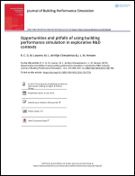 Opportunities and pitfalls of using Building Performance Simulation in explorative R&D contexts