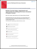 Review of current status, requirements and opportunities for building performance simulation of adaptive facade