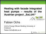 "Heating with facade-integrated heat pumps – results of the Austrian project ""SaLüH!"""