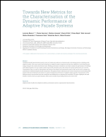 Towards new metrics for the characterisation of the dynamic performance of adaptive façade systems